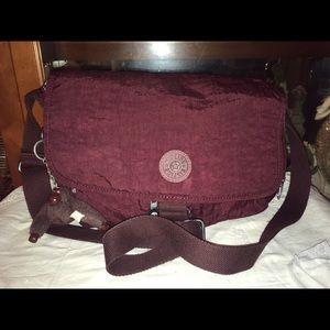 Kipling Burgundy Cross Body Bag